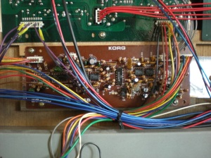 Photo of the Korg Lambda KLM-214 chorus phase PCB