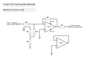 Schematic for a V-Trig to Yamaha CS-Trig converter