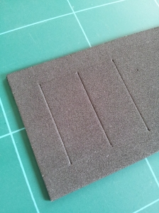 photo of replacement neoprene dust sheet for slider bank of a Moog Rogue
