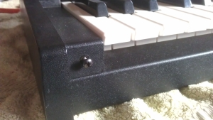 photo of screw points on front of Moog Rogue
