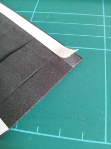 photo of dust sheet with tape attached