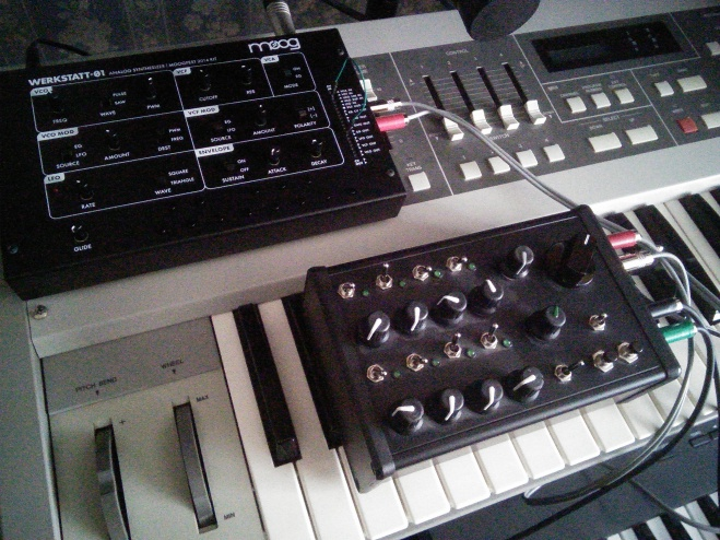 Moog Werkstatt with DIY sequencer