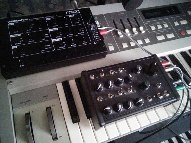 Moog Werkstatt with DIY sequencer