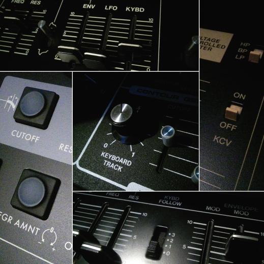 Various filter tracking controls