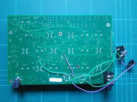 Werkstatt filter CV input mod rear wiring