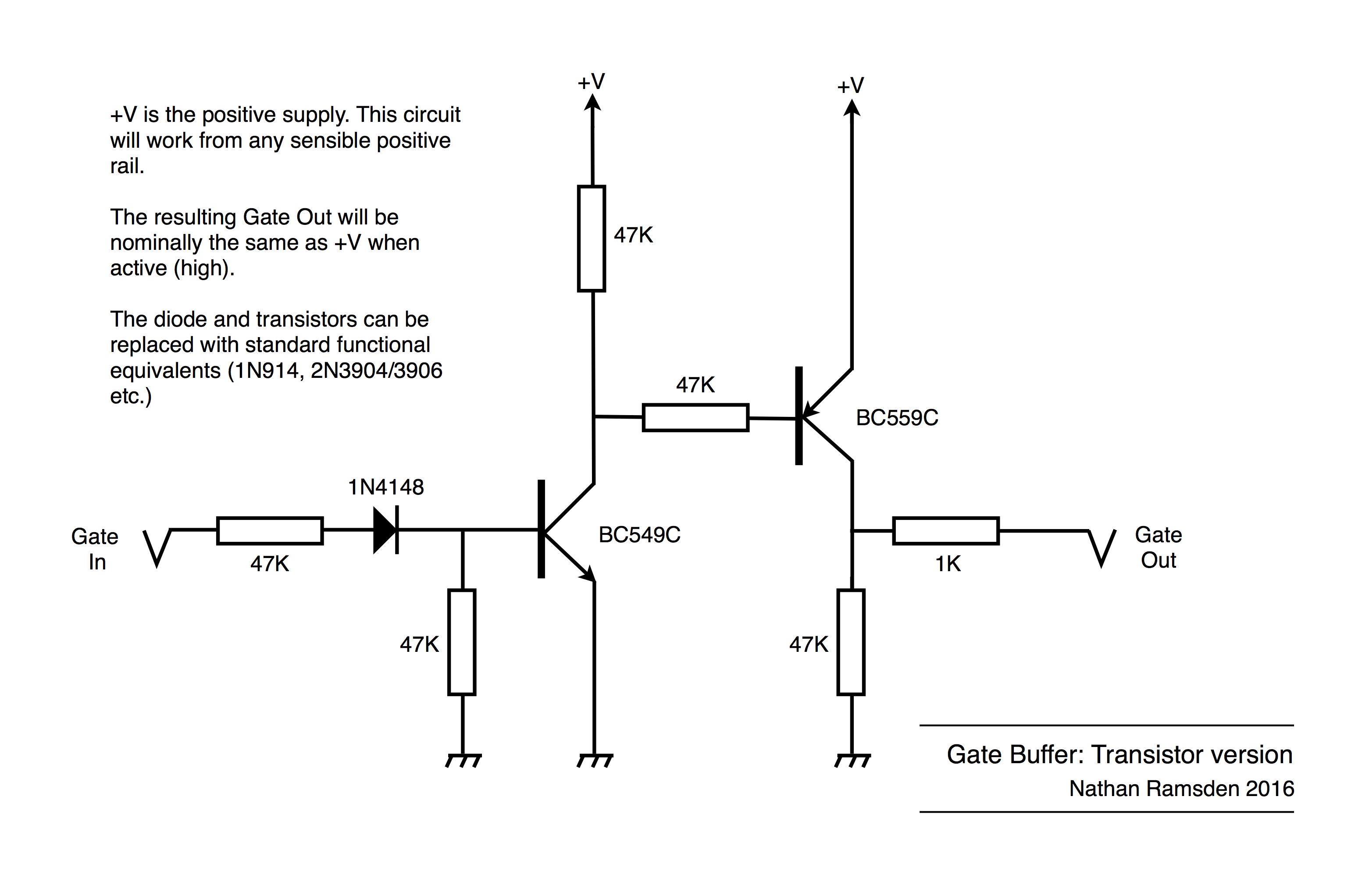 Synth Diy Gate Buffer Synthnerd Ideas Circuit Of Small Transistor Amplifiers Using Transistors