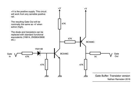 Gate Buffer using Transistors