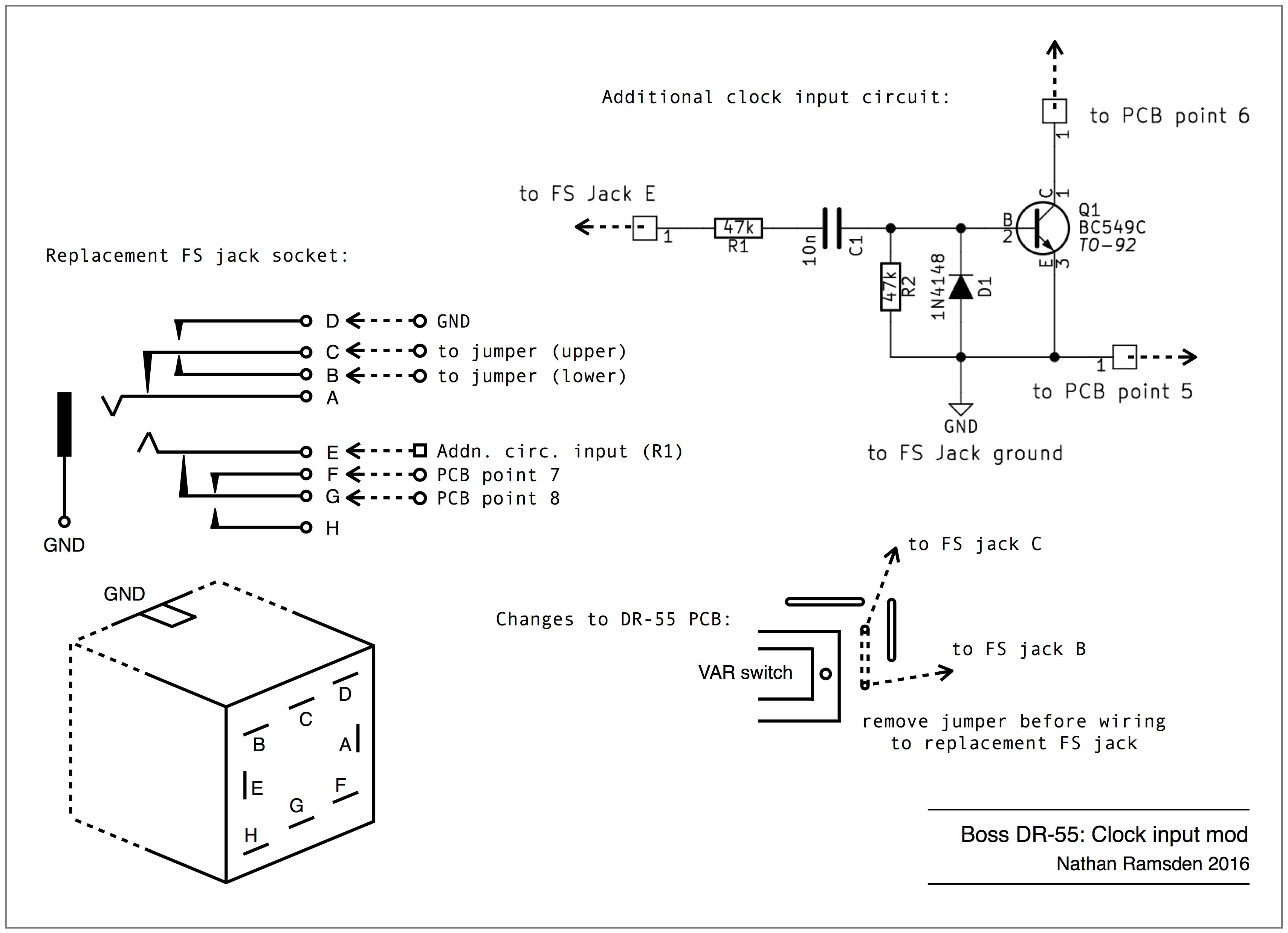 Boss DR-55: external trigger input mod | synthnerdsynthnerd - WordPress.com