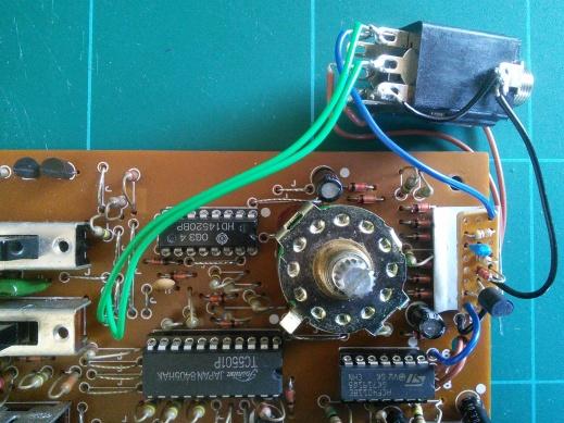 clock modded DR-55 close up