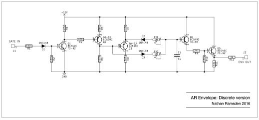 Discrete AR envelope schematic