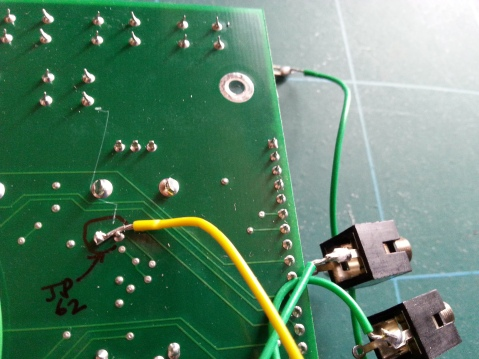 Werkstatt VCA input JMP62 on underside of PCB
