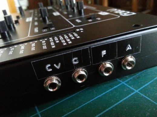 Werkstatt VCA input panel