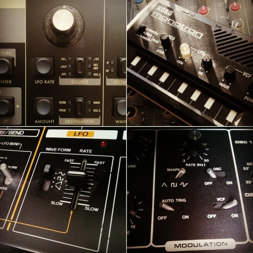 Photo of synth LFO controls