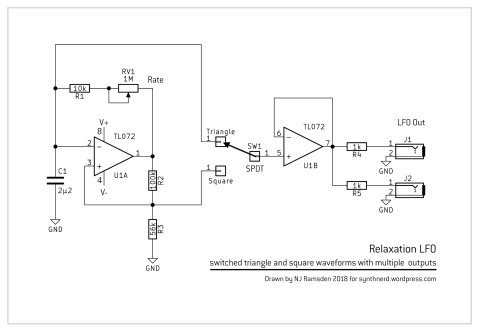 Relaxation LFO schematic