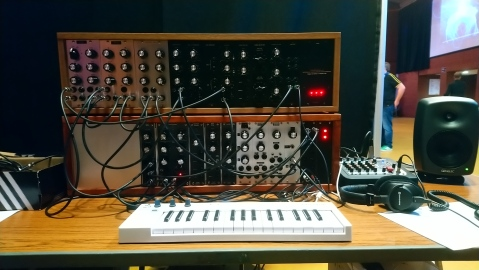 Photo of my DIY modular at Synthfest UK 2019