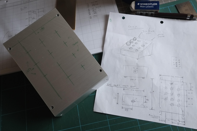 Stompbox Mixer design sketches